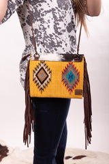 The Rory Hide And Saddle Blanket & Hide Crossbody Purse