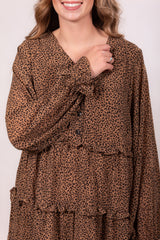Leopard Destination Baby Doll Dress