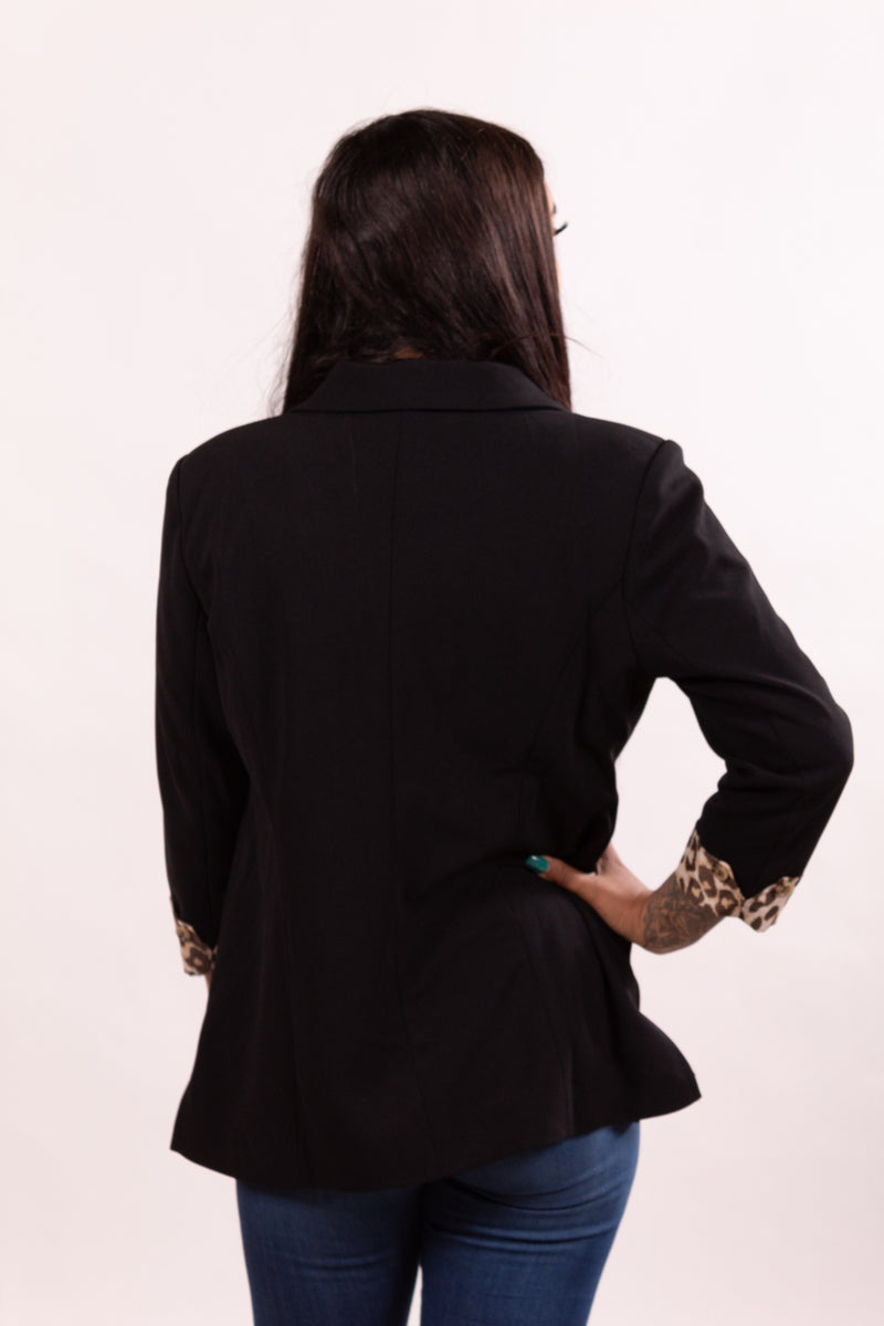 Midnight Leopard Love Blazer