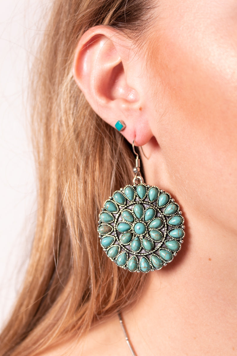 Dylan's Pick Turquoise Dangle Earrings
