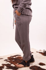 Spring Essential Grey Ribbed Lounge Set