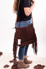 The Koe Hide And Leather Fringe Purse