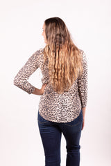 Mocha Leopard Thermal Top