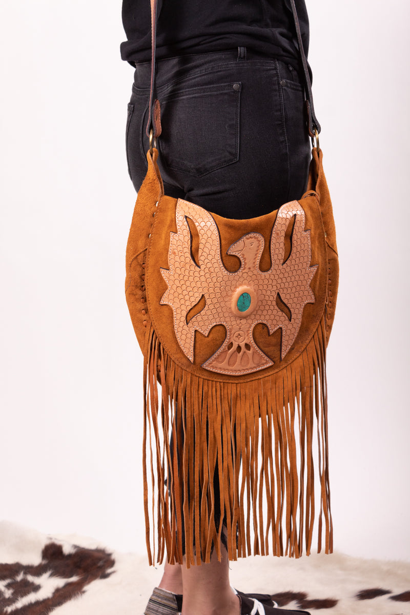 And The Thunder Rolls Tbird Fringe Purse