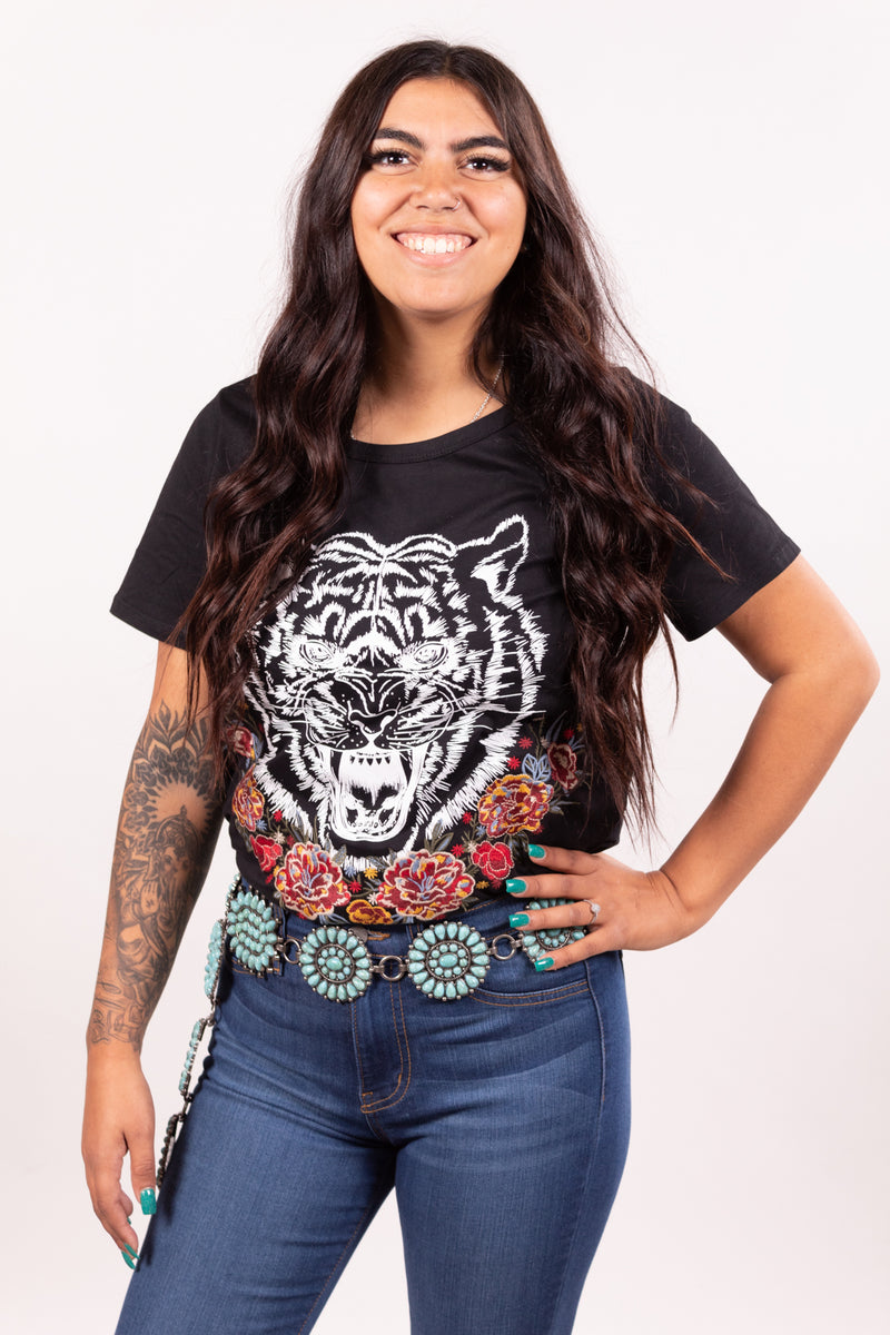Eye Of The Embroidered Tiger Tee