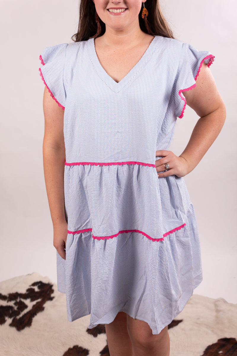 Southern Classic Striped Baby Doll Dress