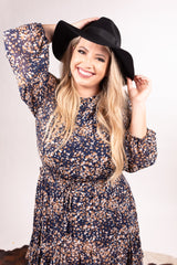 Midnight Wool Floppy Hat