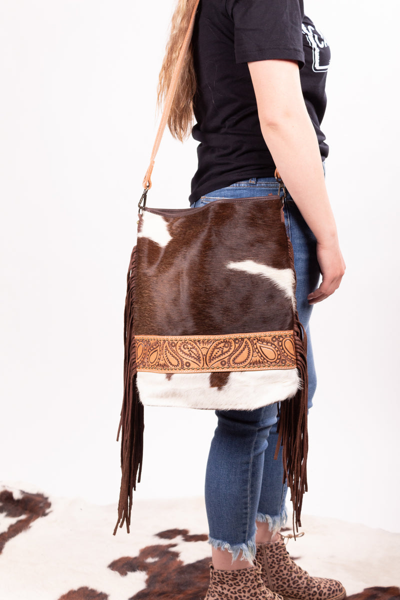 The Cojo Hide Fringe Purse
