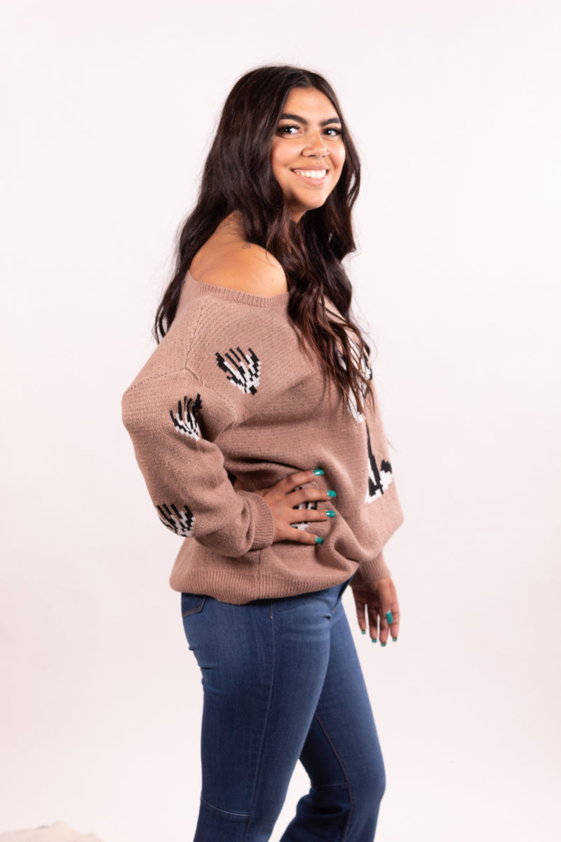 Taupe Joshua Tree Sweater Top