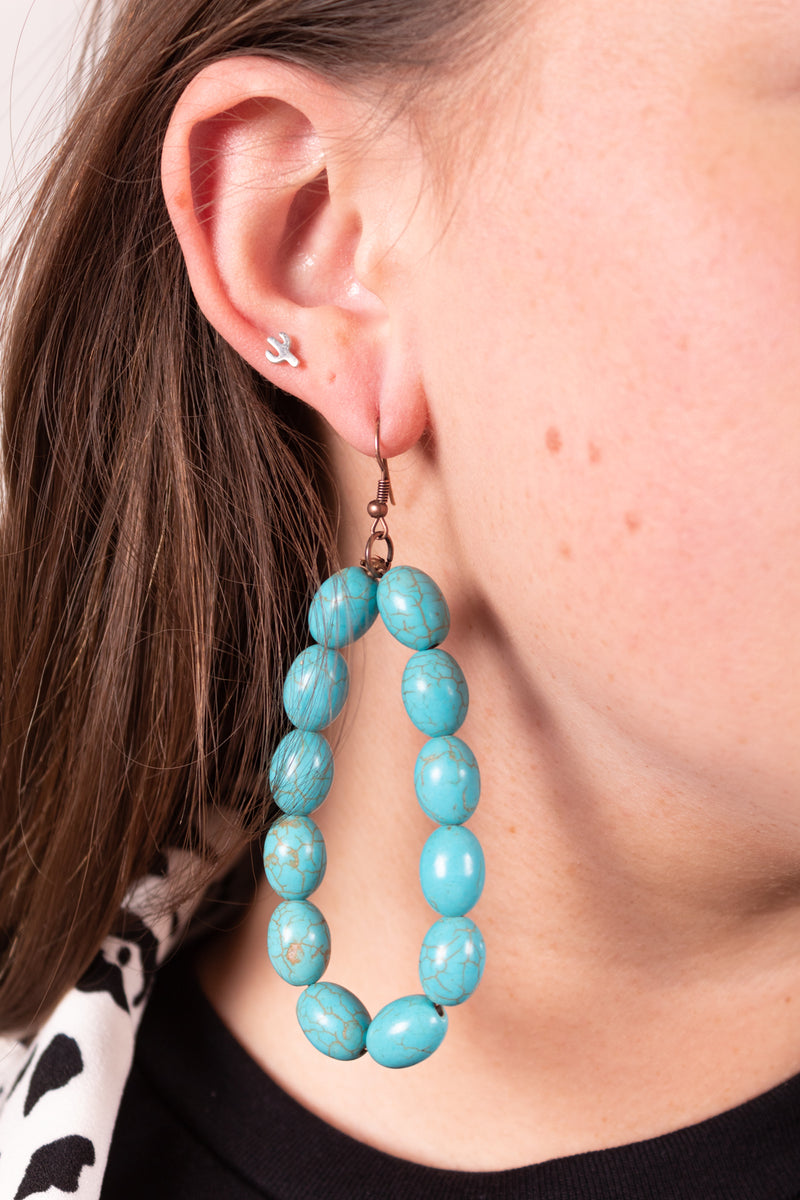 Maddy Turquoise Beaded Dangle Earrings