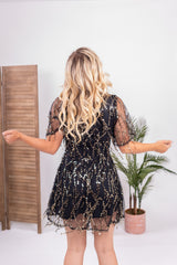 Golden Hour Fringe Mini Dress