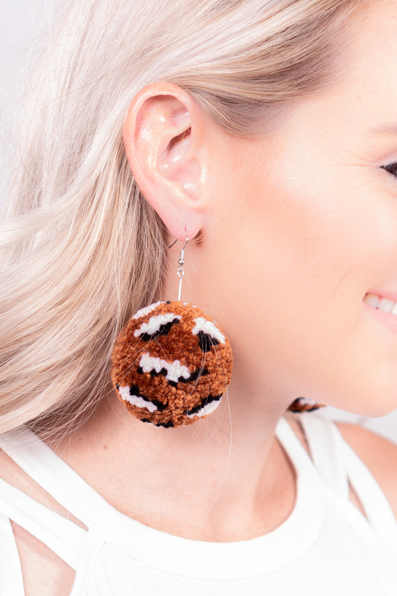 Cheetah Pom Dangle Earrings