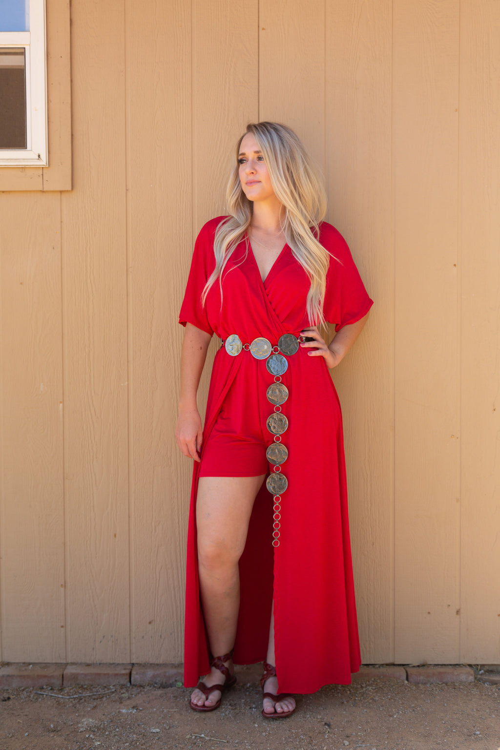 Candy Apple Hi Low Romper