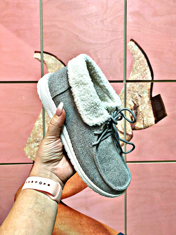 Tennessee Grey Sherpa Sneakers