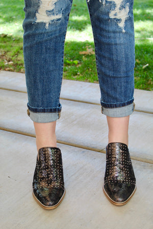 Motorcycle Metallic Mules