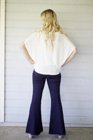Judy Blue Darkest Denim Hi Waist Super Flare