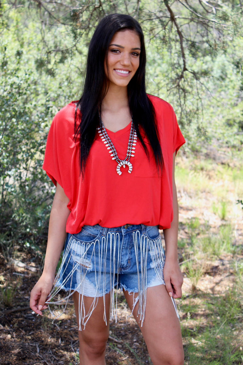 Candy Apple Boyfriend Top