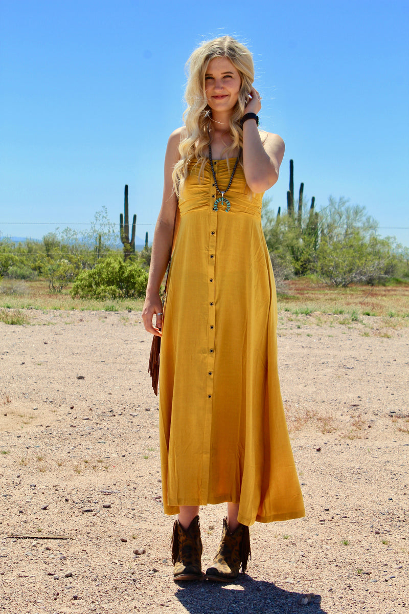 Chella Vibes Button Down Dress