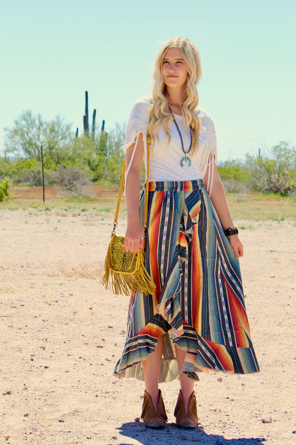 Charcoal Serape Skirt