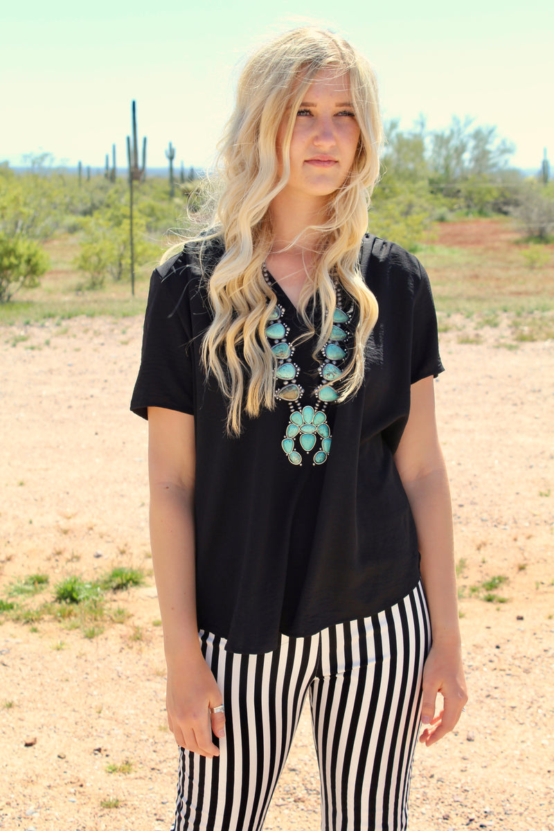 Midnight VNeck Top