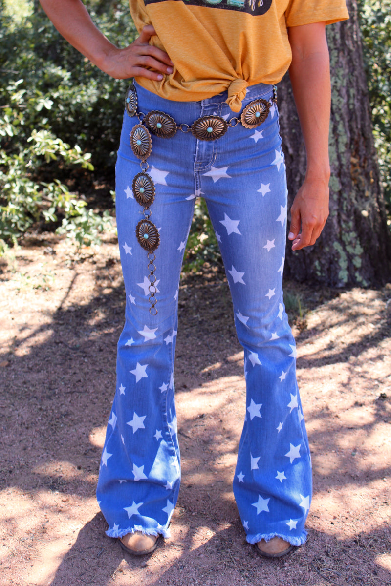 Star Gazer Denim Flares