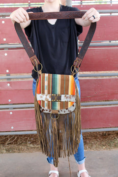 Serape and Hide Wilma Fringe Purse