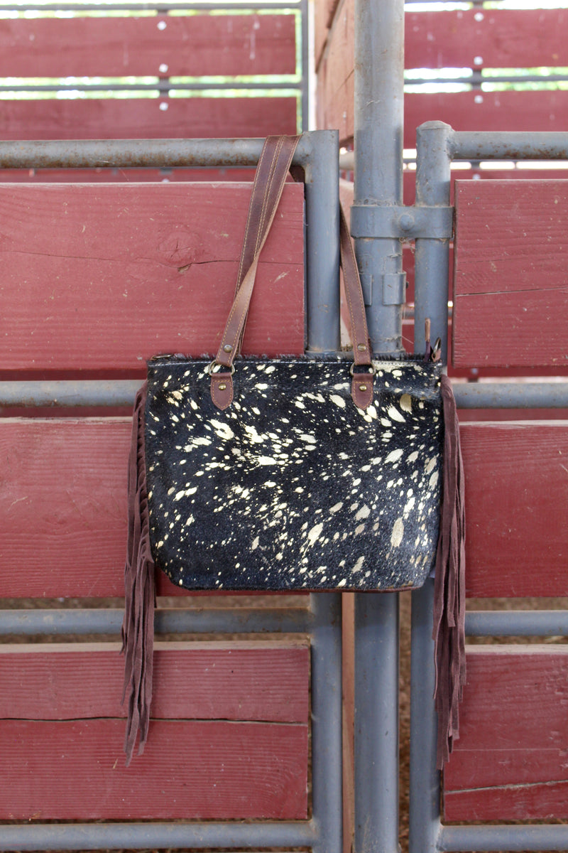 Midnight In Montgomery Fringed Out Purse