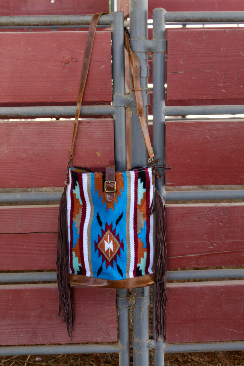 Child Of The Alamo 2 Fringe Saddle Bag