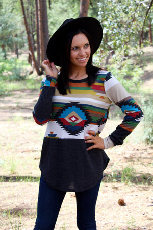 Silver City Long Sleeve Top