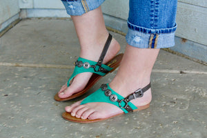 Turquoise Concho Sandals