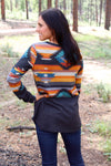 Silver City Long Sleeve Top In Charcoal