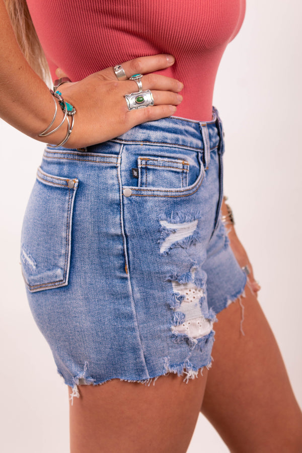 Lady Lacey Mae Judy Blue Denim Shorts