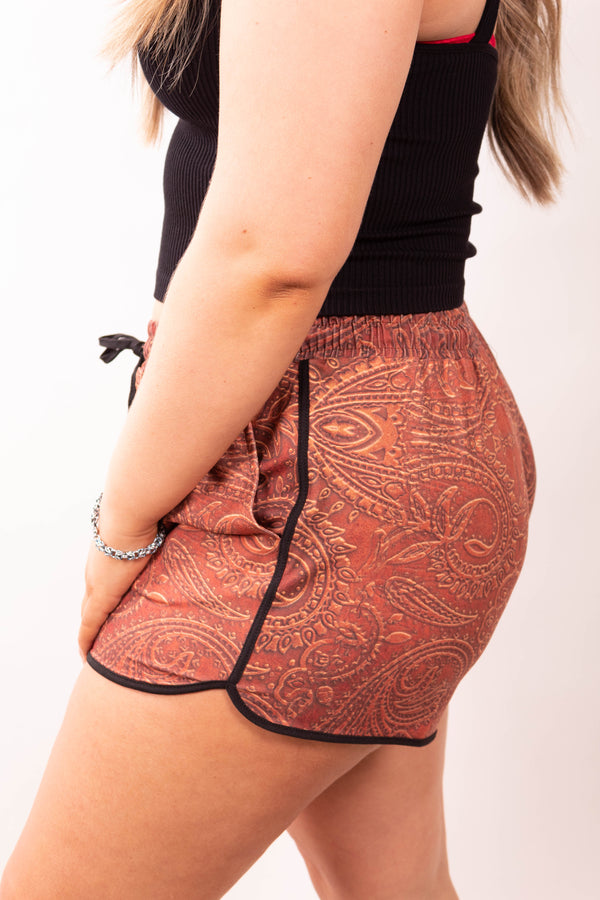 Texas Tooled Leather Shorts