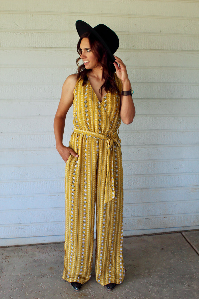 Mustard Diamond Rio Jumpsuit