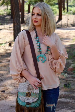 Beige Babe Parachute Long Sleeve Top