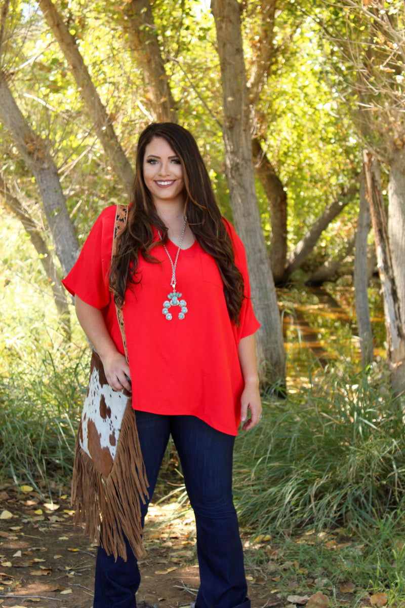 Candy Apple Boyfriend Pocket Top