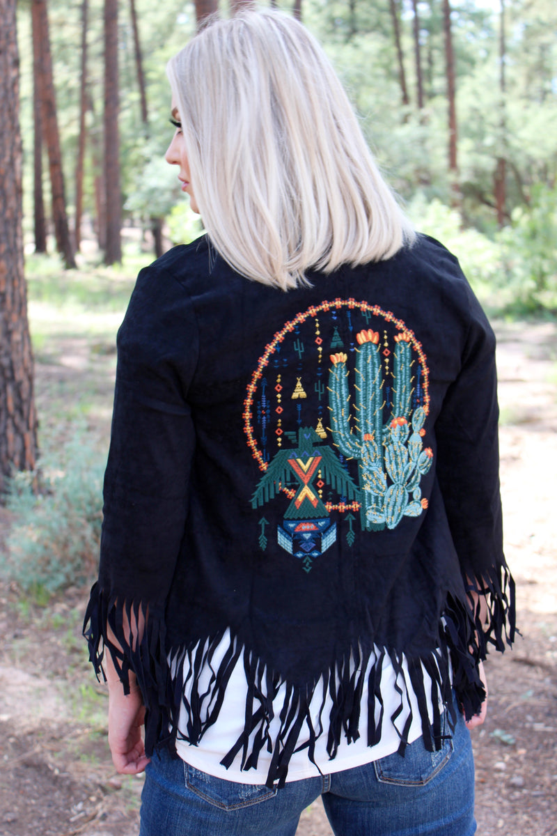 All Over Arizona Fringe Jacket