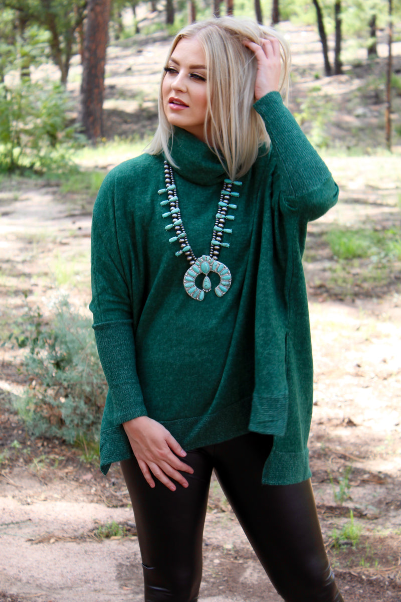 The Collins Turtle Neck Tunic Sweater Top