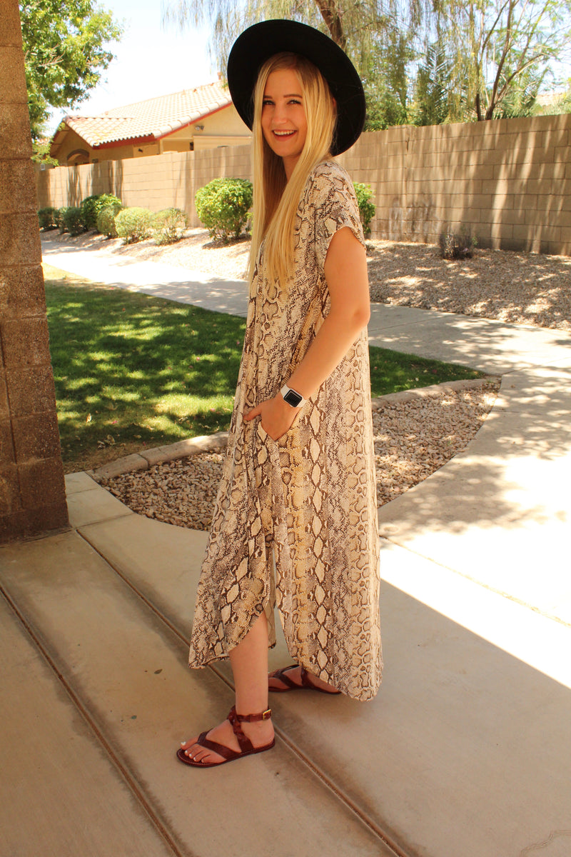 Royal Python Maxi Dress
