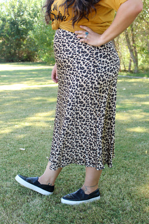 Curvy And Prowlin Midi Skirt