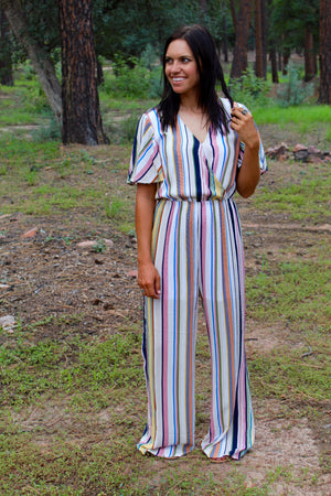 Sweet In Stripes Jumpsuit