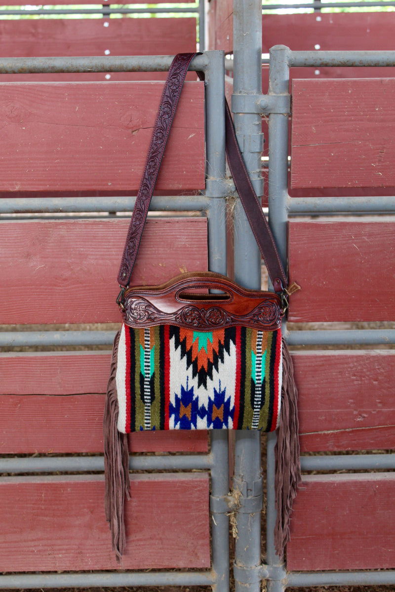 El Paso Saddleblanket Fringe Purse