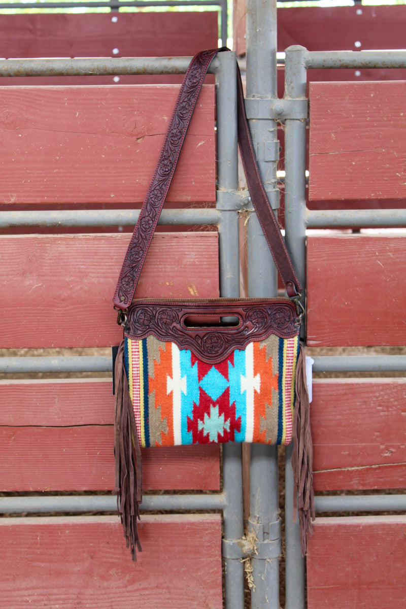 Child Of The Alamo Saddleblanket Fringe Purse