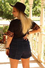 Las Cruces Dark Wash Denim Shorts