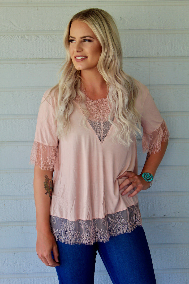 Rose Delta Dawn Top