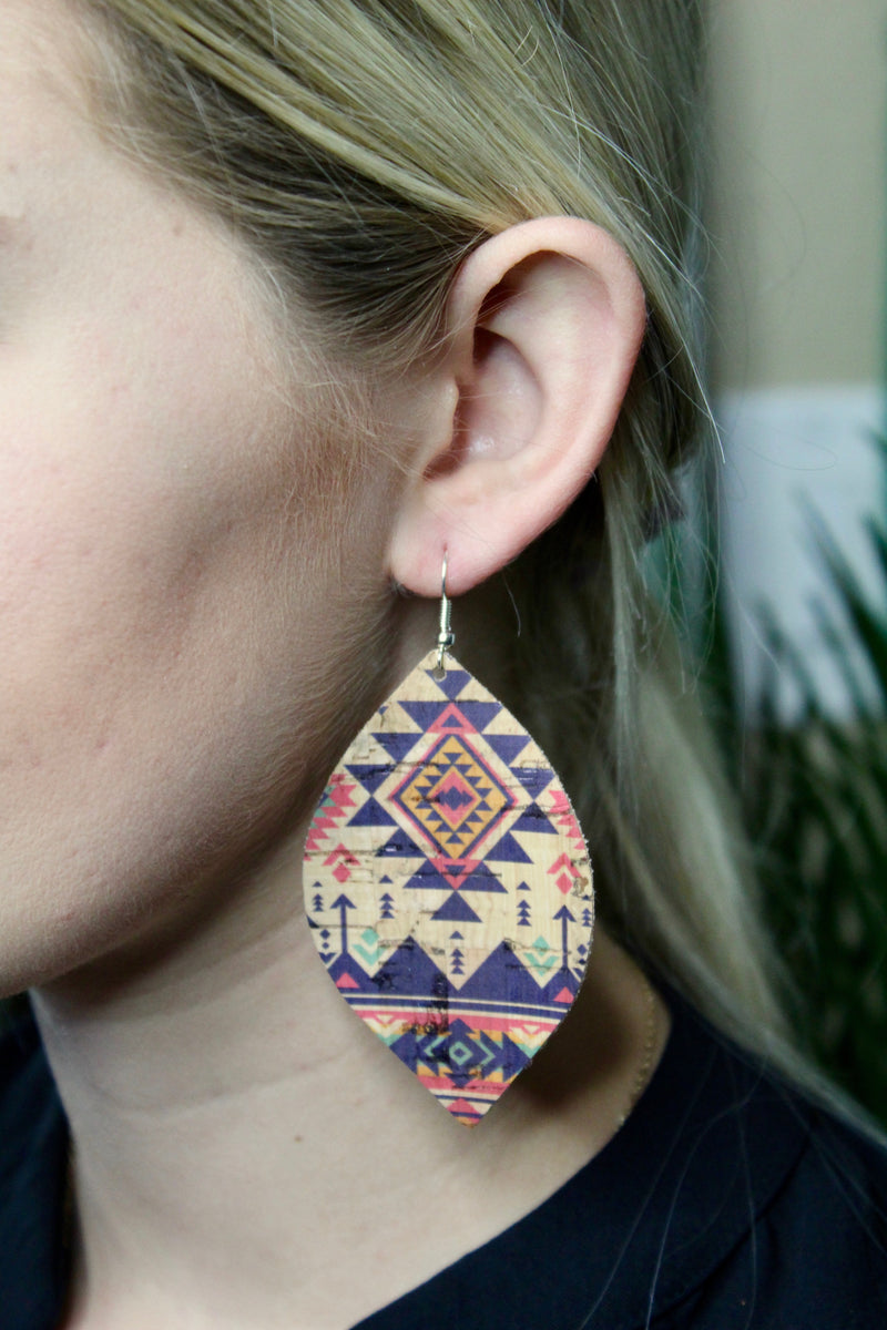 Aztec Leather Earrings