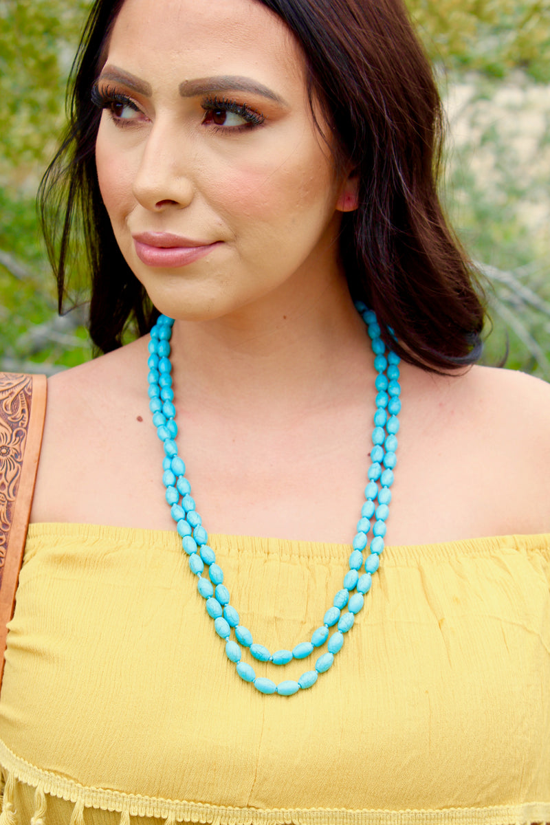 Chunky Beaded Aztec Necklace Set