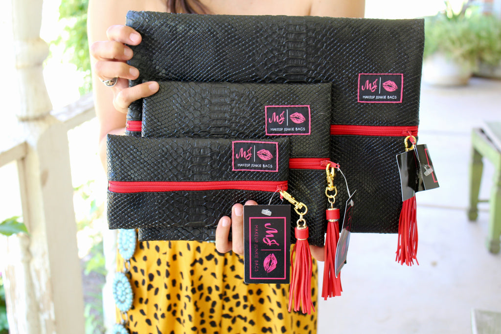 Black Cobra Make Up Junkie Bags