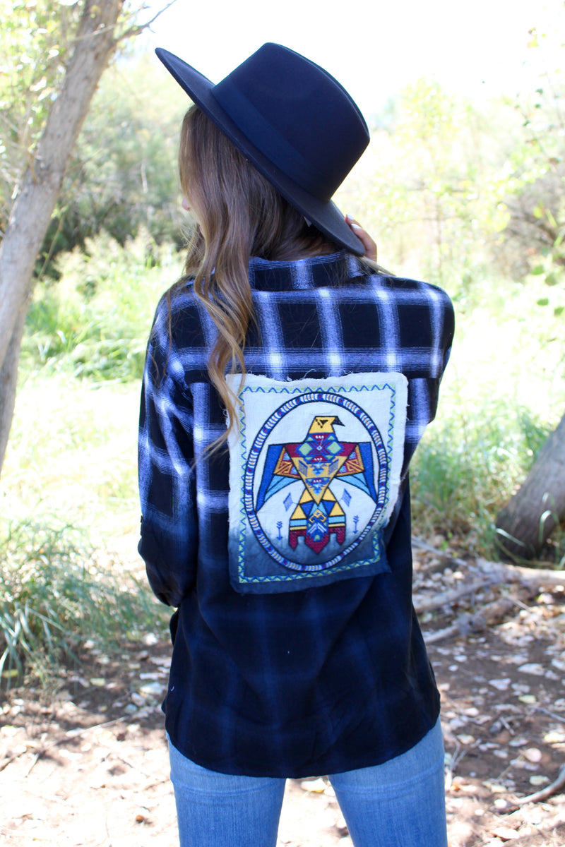 The Faye Patch Flannel Top