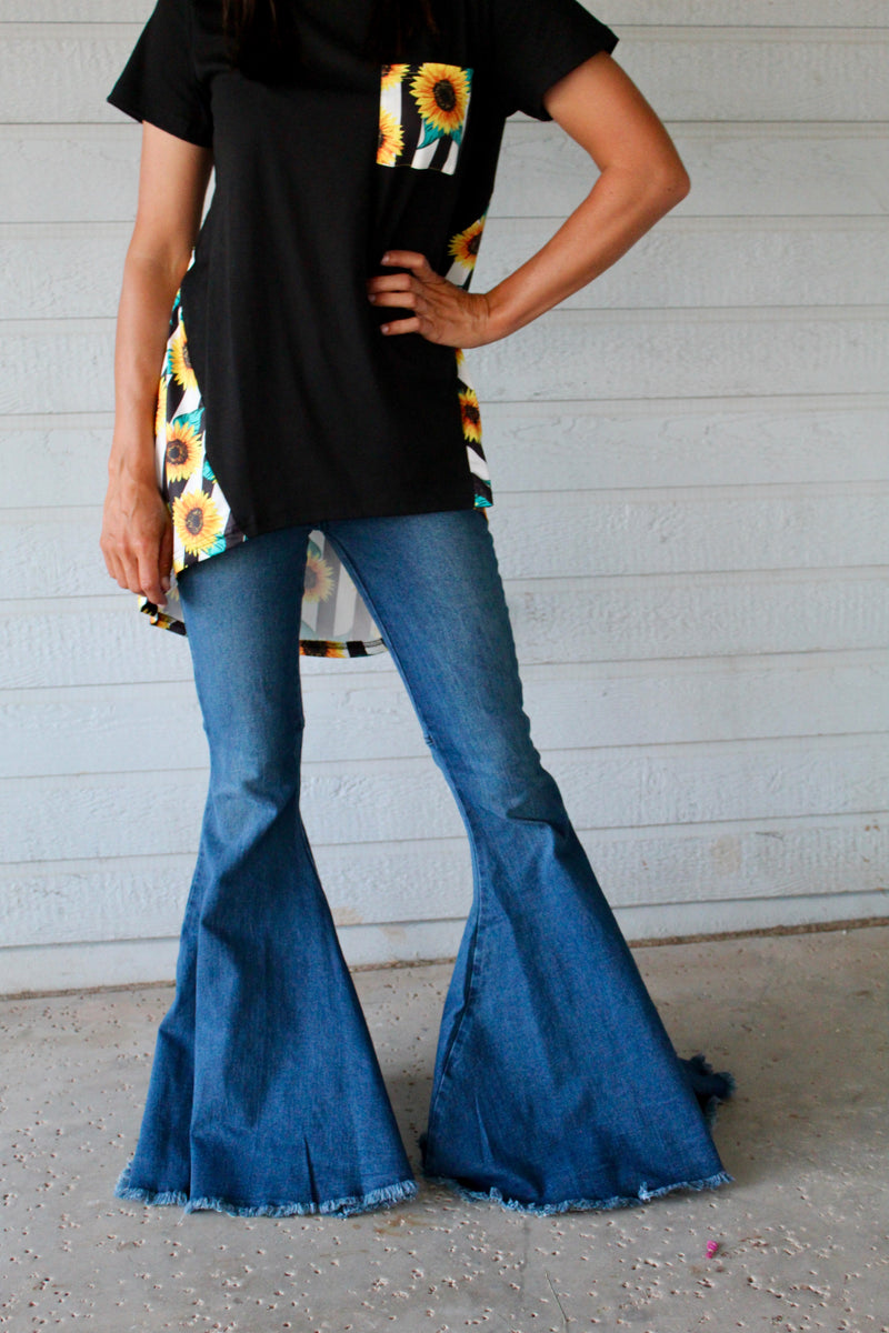90's Baby Oversized Denim Bells